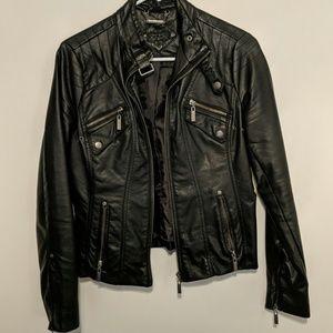 Joujou Leather Style Zip Jacket